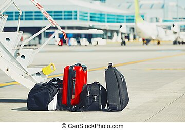 Luggage at the airport
