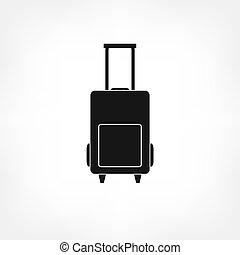 Luggage bag icon vector