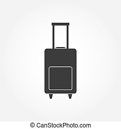 Luggage bag icon vector