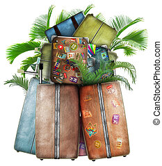 Luggage - Baggage traveler, a heap of bags