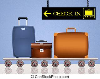 luggage boarding - illustration of luggage boarding