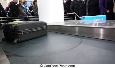 Luggage claim area in the airport