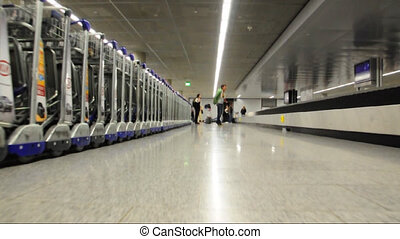 Luggage claim - Interior voew of an airport\'s baggage claim...