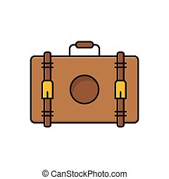 luggage  flat color icon