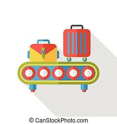 luggage flat icon