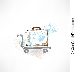 luggage grunge icon.
