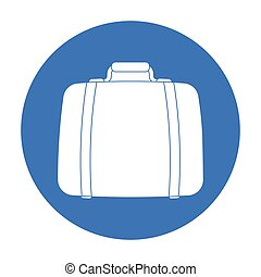 Luggage icon in black style isolated on white background. Hotel symbol stock vector illustration.
