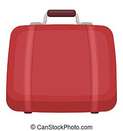 Luggage icon in cartoon style isolated on white background. Hotel symbol stock vector illustration.