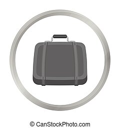 Luggage icon in monochrome style isolated on white background. Hotel symbol stock vector illustration.