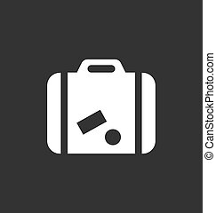 Luggage icon vector sign