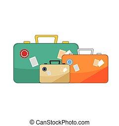 luggage illustration on white background.
