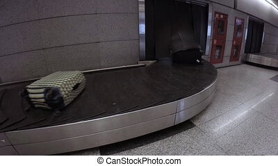 Luggage on a conveyor belt