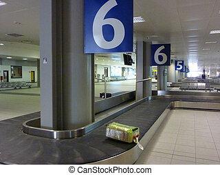 Luggage on babbage belt