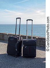 Luggage on the seaside, Dún Laoghaire, Ireland, 2015