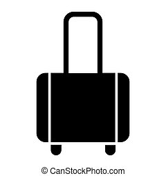 Luggage solid icon. Baggage vector illustration isolated on white. Bag glyph style design, designed for web and app. Eps 10.