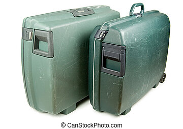 Luggage - Two travel suitcases ready for vacation trip
