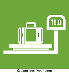Luggage weighing icon green