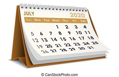 luglio, 2020, calendario