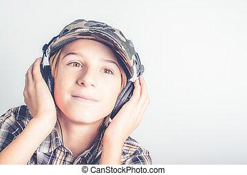 luisteren aan, goed, muziek