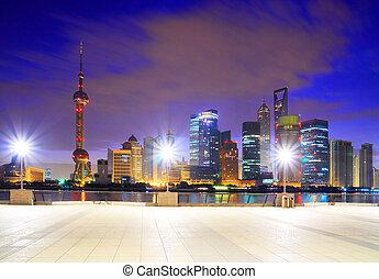 Lujiazui Finance&Trade Zone of Shanghai landmark at bund skyline