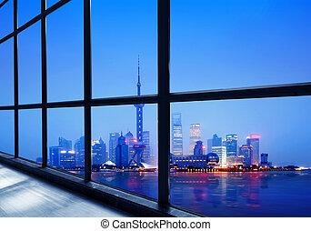 lujiazui, shanghai, financeiro, china, distrito