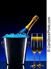 lujo, champaña, plano de fondo