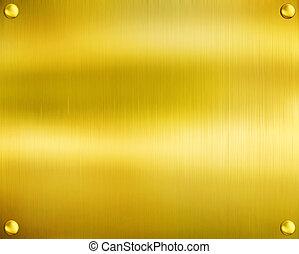 lujo, dorado, texture.