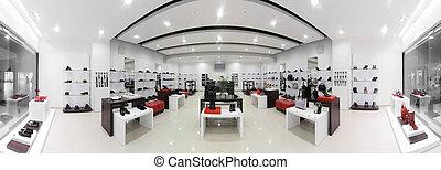 lujo, europeo, shoes, tienda