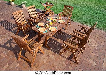 Lujo mobiliario de jard n foto muebles jard n patio for Mobiliario de patio