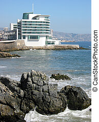 lujoso, hotel, en, el, costa pacífica, en, valparaiso, chile
