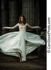 lujoso, Vestido, boda