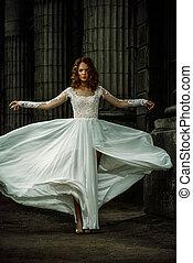 lujoso, vestido de la boda