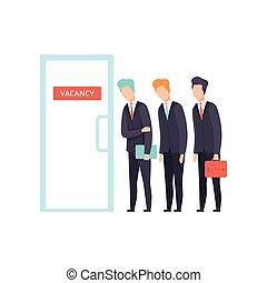 luka, wybór, rewizja, prace, ludzie, werbunek, ilustracja, dzierżawiąc, praca, wektor, kandydaci, współzawodnictwo
