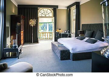luksus, hotel rum