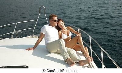 luksus, jacht, spędza urlop