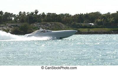 luksus, krążąc po morzach, speedboat