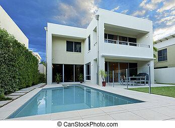luksusowy, dom