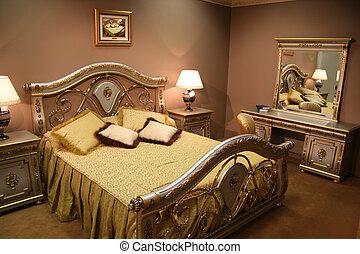 luksusowy, sypialnia
