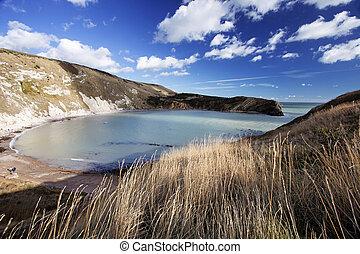 Lulworth Cove Dorset Coast England - Idilic Lulworth Cove...