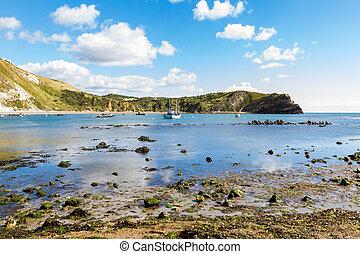 Lulworth Cove Dorset - Coastline at Lulworth Cove Dorset...