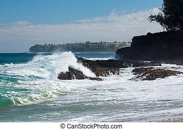 lumahai, strand, kauai
