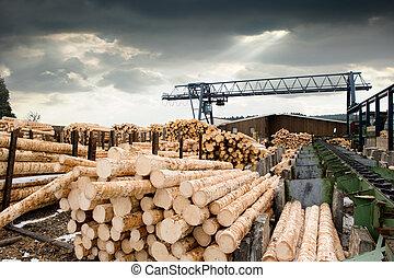 (lumber, 鋸木厂, mill)