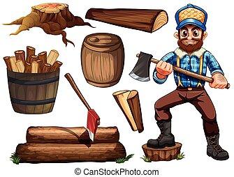 lumberjack, まき