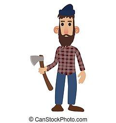 lumberjack, 漫画, アイコン