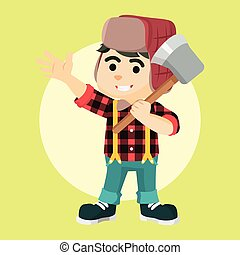 lumberjack boy  illustration design