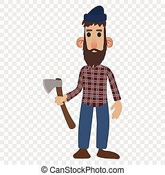 Lumberjack cartoon icon
