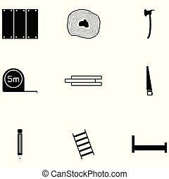 lumberjack icon set