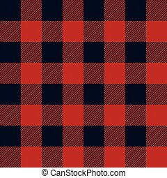 Lumberjack Plaid Seamless Pattern Vector Illustration