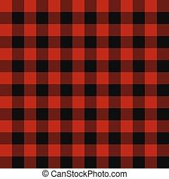 Lumberjack seamless plaid pattern - Lumberjack plaid...