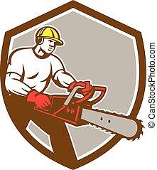 Lumberjack Tree Surgeon Arborist Chainsaw Shield -...